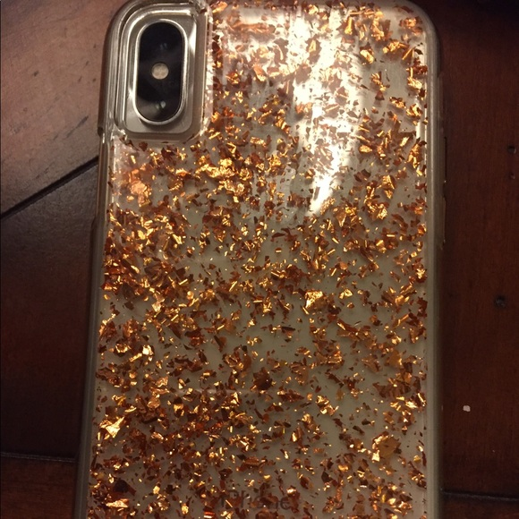 on sale abfe3 0584d Casemate iPhone X case rose gold glitter